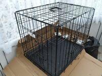 """""""Doggie Solutions"""" Folding 2 door Cage"""