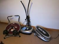 3 PIECES - NEARLY NEW EXCERCISE EQUIPMENT