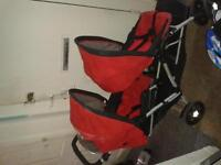 mother care double pram