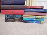 11 Novels by Rick Riordan - 5 from Percy Jackson Series and 6 from Heroes of Olympus Series