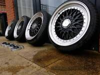 No BBS, alloys, spacers 20mm Dare 17x7.5 with tyres. Corsa 4x100 coilovers set