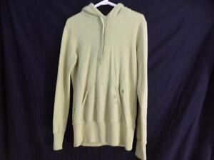 TNA (ARITZIA) long anorak pullover sweatshirt hoodie with long sleeves and very roomy 2 front pockets EUC