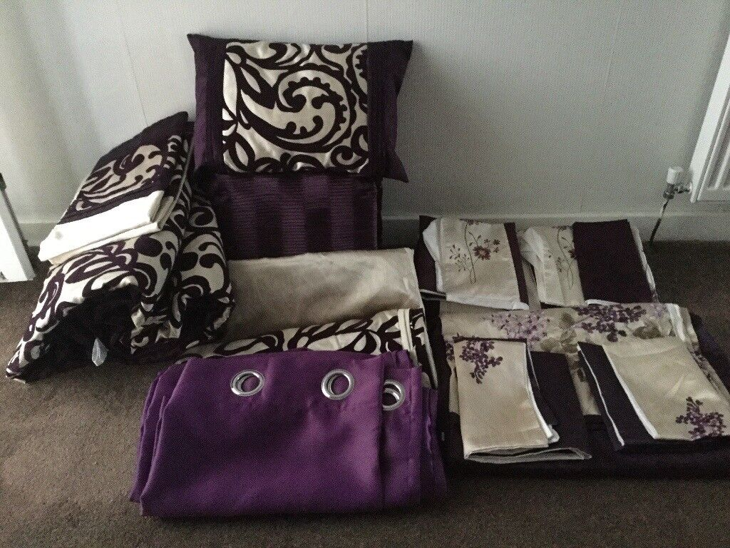 Purple Bedding And Curtains In Grangemouth Falkirk Gumtree