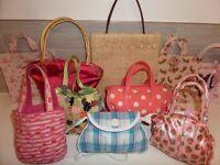 16 Girls pretty handbags bags, Torba,MNG,Accessorize,Cath KIdston,Butterflies,Polka,Fruits & more