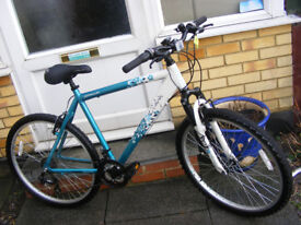 """LADIES 20"""" ALUMINIUM FRAME 26"""" WHEEL BIKE HARDLY USED IN GREAT CONDITION"""