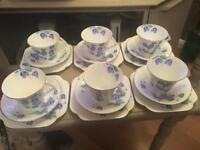 COLCLOUGH PRETTY BONE CHINA TEA SET