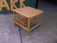 Square Wicker Table Delivery available