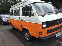 vw t25/3 autosleeper campervan 1985 pop top