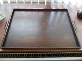Retro oak serving tray.
