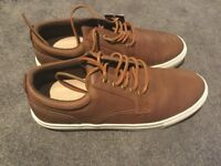 Marks and spencer brown lace up trainers size 9, brand new
