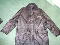 Men's Faux Leather-look Coat, size 2XL 52/54inch; Black, Unworn, Premier Man