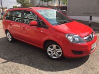 Vauxhall Zafira 2013/2014 (63) 1.6 petrol uber Pco ready, 1 owner Low miles 1 year Pco 1 year mot