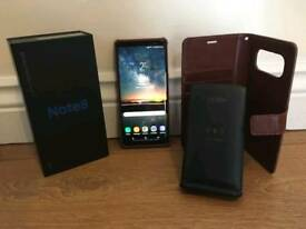 Samsung Galaxy Note 8 inc case & charger