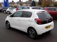 PEUGEOT 108 1.2 ALLURE 5dr *Bluetooth + DAB + Reverse Camera* (white) 2014