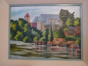 Anyone know this Gananoque oil painting?