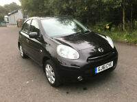 NISSAN MICRA ACENTA 2011 ONLY 42,500 MILES,£30 TAX, LADY OWNER