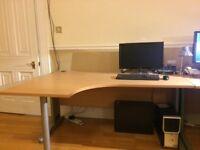 Large office computer desk