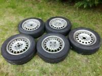 """BMW E30 3-Series Alloy Wheels - 14"""" 4x100 VW (Lupo etc)"""