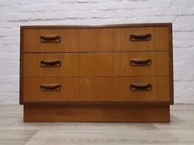 G-plan Chest Of Three Drawers (DELIVERY AVAILABLE FOR THIS ITEM OF FURNITURE)