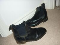 Black horse riding ankle boots. Size 5.