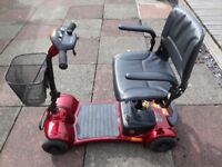 ULTRALITE 480 4mph Class 2 Pavement Electric 4-Wheel Red Mobility Scooter