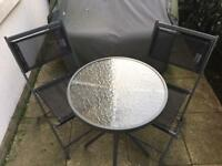 Outdoor folding chair and table