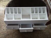 White wooden Dressing Table Tidy box