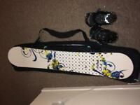 New! Never Summer Infinity Snowboard, Bag and Bindings. Over £500 Worth of kit grab a BARGAIN!