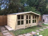 14x8 tanalized timber summer house