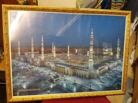 Islamic frame with madina prophet mosque