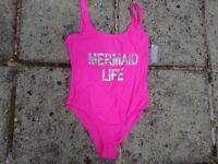 Ladies New with Tags Pink Swimming Costume Size 18
