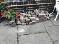 Reclaimed Garden Cobble stones, Granite setts