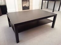 Black coffee table, large, very good condition