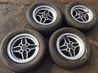 ford capri alloys alloy wheels 4 spoke 205 60 13