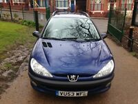 Peugeot 206 SW 1.4 XT 5dr NEW HEAD KIT LONG MOT CHEAP BARGAIN TO CLEAR