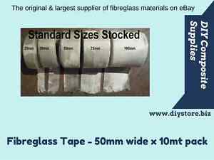 50mm wide Fibreglass Cloth Tape 198gm, 10mt pack (FREE FREIGHT) For Epoxy & Poly