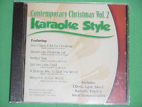 Contemporary Christmas Volume #2  Daywind  Karaoke Style  CD+G  Karaoke  6 Songs