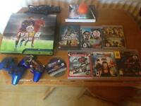 PS3 console 2 controllers 7 games including FIFA 2016 all leads inc HDMI