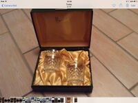 Reduced price Harrods hand cut lead crystal glasses