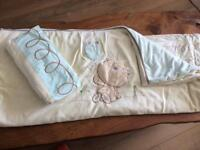 Price drop!! Excellent condition. Lollipop Lane Treacle & Bubble Nursery Cot Set including curtains