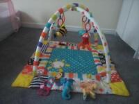 various baby toys and essentials