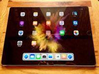 iPad Pro 12.9 128GB Wi-Fi Space Grey   including Apple Pencil & KavaJ Premium Leather Case (Boxed)