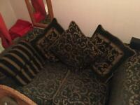 Free to collect - black and gold cloth sofa