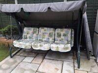 3 seat garden swing