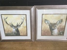 Beautifull Pair of Adelene Fletcher Stag Pictures