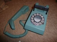 Trimphone in 1970's Design Classic. Colour is French Blue.