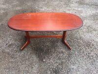 Coffee table retro mahogany