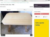 Solid Wood Coffee Table - Free
