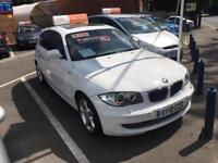 BMW 1 SERIES 118d Sport Step Auto (white) 2010