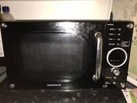 Black/Chrome Microwave Oven
